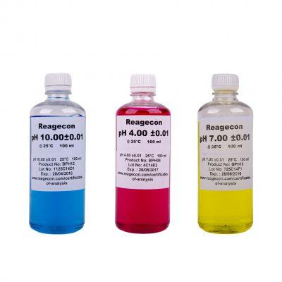 REAGECON Puffer oldat készlet 3 x 100 ml